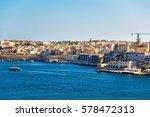 ship at senglea and creek at... | Shutterstock . vector #578472313
