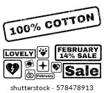 100 percent cotton text rubber... | Shutterstock .eps vector #578478913