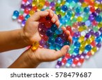 colored balls of hydrogel in... | Shutterstock . vector #578479687