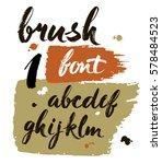 vector acrylic brush style hand ... | Shutterstock .eps vector #578484523