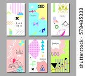 set of artistic colorful... | Shutterstock .eps vector #578485333