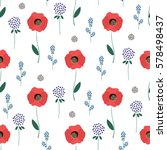 floral pattern on white... | Shutterstock .eps vector #578498437