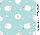 seamless pattern with cute... | Shutterstock .eps vector #578499073
