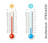 hot and cold weather icons.... | Shutterstock .eps vector #578516233