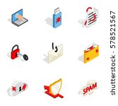 computer security icons set.... | Shutterstock .eps vector #578521567