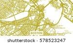 detailed vector map of boston... | Shutterstock .eps vector #578523247