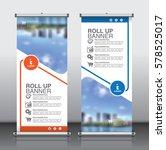 roll up brochure flyer banner... | Shutterstock .eps vector #578525017