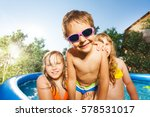 close up portrait of smiling... | Shutterstock . vector #578531017