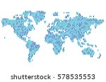 global population. world map... | Shutterstock .eps vector #578535553