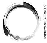 circle with dynamic swoosh line ... | Shutterstock . vector #578551177