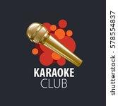 vector logo karaoke | Shutterstock .eps vector #578554837