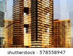 contemporary architecture.... | Shutterstock . vector #578558947