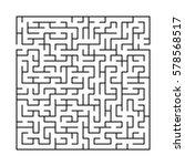 vector labyrinth 94. maze  ... | Shutterstock .eps vector #578568517