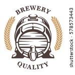 vintage barrel of beer logo ... | Shutterstock .eps vector #578573443