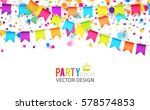 multicolored hanging garlands.... | Shutterstock .eps vector #578574853