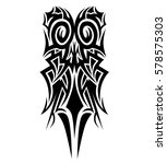 vector tribal tattoo cross... | Shutterstock .eps vector #578575303