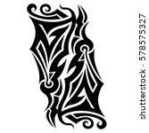tribal designs. tribal tattoos. ... | Shutterstock .eps vector #578575327