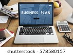 business plan guidelines... | Shutterstock . vector #578580157