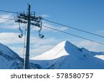 chair lift on a background of... | Shutterstock . vector #578580757