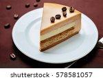 coffee caramel cream brulee... | Shutterstock . vector #578581057