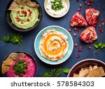 Colorful Hummus Bowls....
