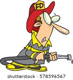 cartoon fire fighter | Shutterstock .eps vector #578596567