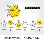 linear infographic waves and... | Shutterstock .eps vector #578597437