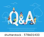 question and answer concept... | Shutterstock .eps vector #578601433