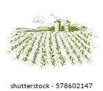 crop field drawing | Shutterstock .eps vector #578602147