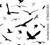 flying seagull. seamless... | Shutterstock .eps vector #578602183