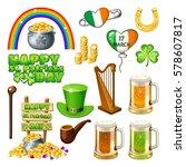 set of st. patrick's day...   Shutterstock .eps vector #578607817