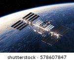 international space station...   Shutterstock . vector #578607847