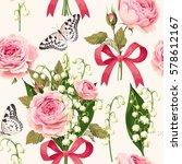 seamless spring flowers | Shutterstock .eps vector #578612167