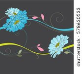 abstract floral background.... | Shutterstock .eps vector #578630533