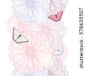 hand drawing floral background... | Shutterstock .eps vector #578635507