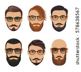 hipsters bearded men with... | Shutterstock .eps vector #578638567