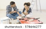 frustrated handsome black... | Shutterstock . vector #578646277