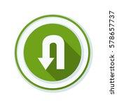 u turn roadsign sign... | Shutterstock .eps vector #578657737