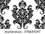 vector damask seamless pattern... | Shutterstock .eps vector #578659297