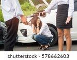 asian women and asian man... | Shutterstock . vector #578662603