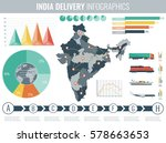 india transportation and... | Shutterstock .eps vector #578663653