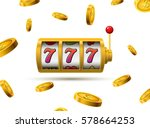 slot machine lucky sevens... | Shutterstock .eps vector #578664253