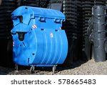 blue and black municipal waste... | Shutterstock . vector #578665483