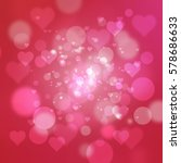 red and pink heart abstract... | Shutterstock . vector #578686633