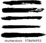 set of grunge brush strokes | Shutterstock .eps vector #578696953