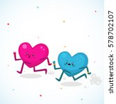 women vs men  cute hearts ... | Shutterstock .eps vector #578702107