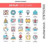 vector set of corporate... | Shutterstock .eps vector #578702503