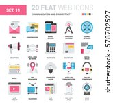 vector set of communication and ... | Shutterstock .eps vector #578702527