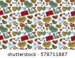it is raster seamless pattern...   Shutterstock . vector #578711887