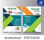 diabetes health flyer leaflet... | Shutterstock .eps vector #578714533